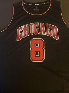 Zach LaVine MED  Chicago Bulls Fanatics  Replica Black Jersey Mens  NWT