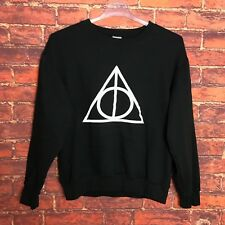 Harry Potter and the Deathly Hallows Symbol Crewneck Sweater - Size Large