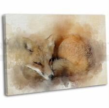 Wall Art Picture 12Wa Watercolour Art Print of Original Painting Orange Fox