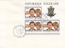 (11553) Togo FDC Princess Diana Royal Wedding 29 July 1981