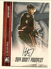 HAYDN FLEURY 2014 LEAF IN THE GAME ITG DRAFT PROSPECTS ON CARD SILVER AUTO