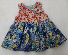 Girl's 100% cotton sleeveless summer dress age 0-6 months