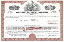 Williams Brothers Company.1972 Ten Year Debenture Certificate