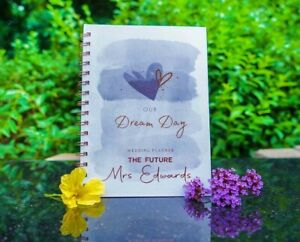 Personalised Wedding Planner Book OUR DREAM DAY, Checklist **NEW DESIGN!**