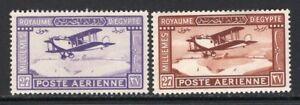 Egypt 1926-29 Airmail Set of 2 MNH #C1-2