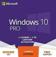 WINDOWS 10 PRO PROFESSIONAL 🔥 GENUINE LICENSE KEY 🔥 32/64 🔐 INSTANT DELIVERY⚡