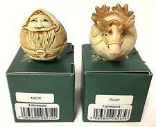 Harmony Kingdom Nick & Rudy Christmas Roly Poly Box Figurine Set