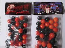 2 BAGS OF Nightmare on Elm Street Freddy Krueger MOVIE PROMO MARBLES