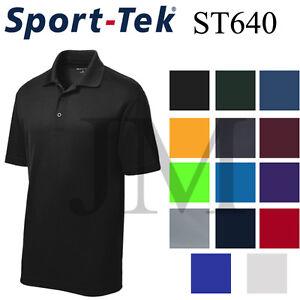 Sport Tek ST640 Dri-Fit Performance Polo Casual Golf Shirt Dry