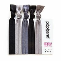 Popband Solid Colour Ponytail Holder Hair BandsTies 5 Pack - Ink