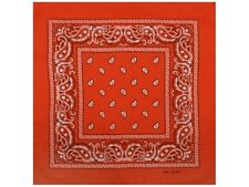 1 x Bandana Neckcloth Red Paisley Made of 100% Cotton Neckerchief Scarf