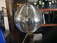 More details for  mirror ball / reflective glass disco ball 157cm circumference.  09/21