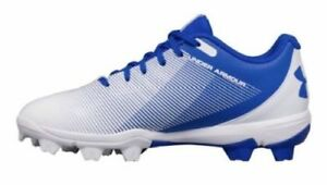Under armour boys baseball cleats 1297316-411 blue white new without box