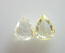 0.90cts 2pc Pair Natural Loose Rose Cut Diamond Pear VS-SI Clarity G/I Color