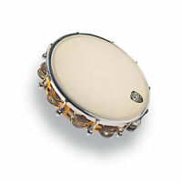 Latin Percussion LP 10 Inch Tunable Wood Tambourine