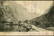 Alte AK,GUDVANGEN/Brevkort fra Norge. beschrieben,gel.1906