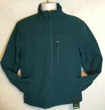 Nordic Track Mens Soft Shell Zip-Front Blue Jacket Size Large Wind Resistant NWT