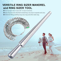 Ring Size Stick Mandrel Finger Gauge Ring Sizer Measuring Sizes Jewelry Tool BSL
