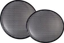 "New Pair 12"" Speaker Grills Covers Subwoofer Box Metal Mesh Black Grille"