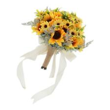 Simulation Sunflower Bouquet Wedding Bridal Holding Flowers Home Party Event