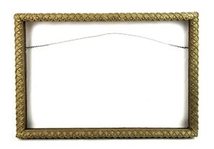 "Antique Wood Gesso Ornate Pattern Baroque Gold Picture Frame Fits 19.5"" x 13"""