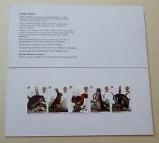 Gb 1977 faune harrison presentation pack mint stamps sg 1039-1043 voir #1415+