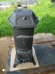 Beautiful  Vintage Antique Wood burning stove 5kW Cylindrical stove ,Godin