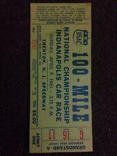 100 Mile National Championship Indianapolis Car Race 1961 Trenton Speedway Stub