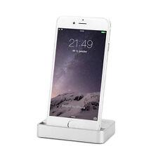 Dockingstation iPhone X 8 7 6S Plus 5 5C SE iPod Lade Ständer Daten Sync Silber
