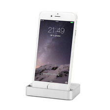 Base dock iphone x 8 7 6s plus 5 5c se iPod soporte de carga datos Sync plata