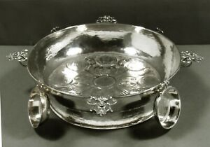 Spanish Sterling Punch Bowl & Cups            c1940 SIGNED