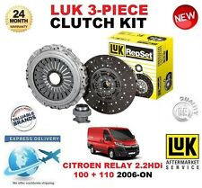 FOR CITROEN RELAY 2.2 HDi 100 110 CLUTCH KIT 2006-ON LUK 3 PIECE OE QUALITY