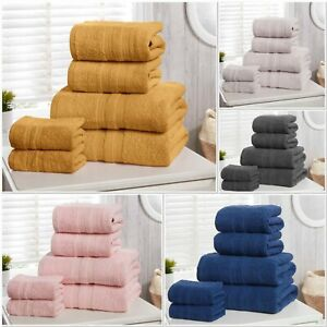 "Rapport 100% Cotton ""Camden"" Bathroom 6pc Towel Bundle 5 Colours Available"