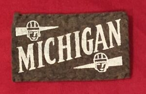 Antique 1930's University of Michigan Candy Tobacco Felt Blanket Football Early