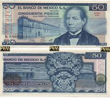 Mexico Banknote 50 Pesos AU UNC CRISP Paper Money - Mix Year - Mexican Bills