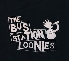 New BUS STATION LOONIES   'Drunk Punk'   black fabric patch - PUNK!