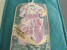 """Herbert Stolle Floral Pants & Shirt w Hearts New in Garment Bag New for 20"""" Doll"""