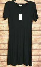 NEW! Stretchy Summer Dress UK14 Black PAPAYA WEEKEND Short Sleeved BNWT Slim-Fit