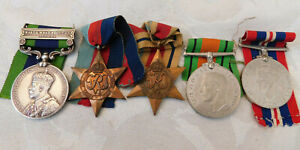 WW2 INDIA GENERAL SERVICE NORTH WEST FRONTIER 1930-31 6th LANCERS MEDALS  -KHAN