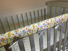Reversible Baby Cot Crib Teething Rail Cover Protector ~ cute animals