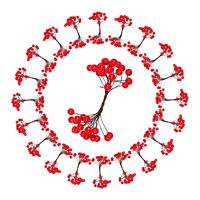 800 Red Holly Berry Christmas Tree Tie-On Gap Decorations (20 Berry Bunches)