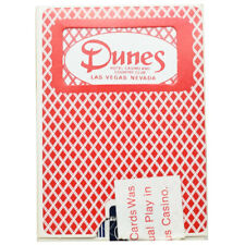 Casino Playing Cards - Dunes Casino Playing Cards Used Red Deck #2