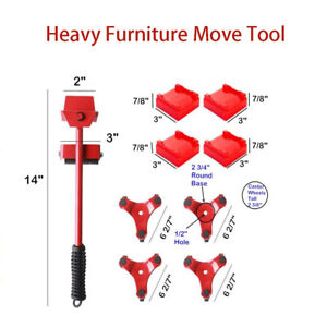 Transport Moving Shifter Remover Roller Wheel Move Furniture Helpers Heavy Duty