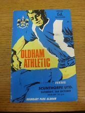 02/10/1965 Oldham Athletic v Scunthorpe United  (folded, team changes). Thanks f