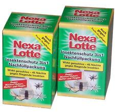 (15,36€/100ml)Nexa Lotte Insektenschutz 3in1 Mückenstecker Nachfüller 2x35ml *WS