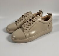 VINCENTIUS Bespoke Beige/Taupe Faux Patent Leather Trainers - UK 6, EU 39