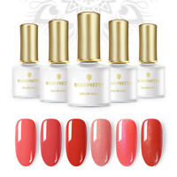 BORN PRETTY 6ml UV Gellack Red Series Pure Tips Soak Off Shimmer Gel Nagellack