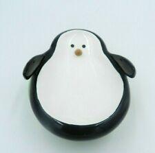 Vintage Penguin Soap Dish Target 2007 Twirls Swivel Ceramic Polka Dot Base