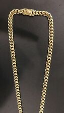 18k Miami Cuban Link, Gold-Filled not plated 9.6mm 30 inch chain.  125 grams