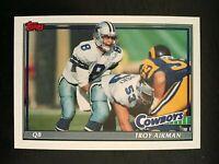 1991 Topps Football Card #371 - Troy Aikman - Dallas Cowboys